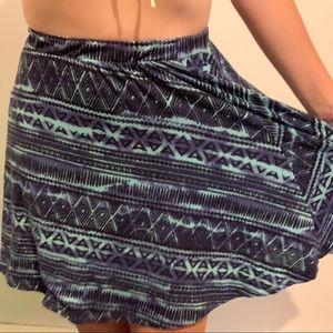 Purple And Blue Circle Skirt